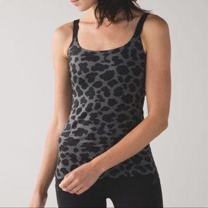 Lululemon Barre None Tank 4 leopard
